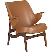 Danish Mid Century Sculpted Teak Arm Chair by Poul Jessen