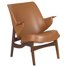 Danish Mid Century Sculpted Teak Arm Chair by Poul Jessen