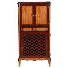 Vintage Louis XV Style Music Cabinet Cupboard, Early 20th Century