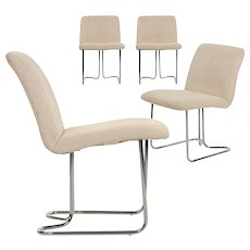 Vintage Set of Four Chrome Dining Chairs by DIA - Design Institute America