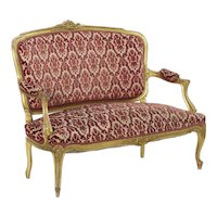 French Louis XV Style Antique Settee circa 1900