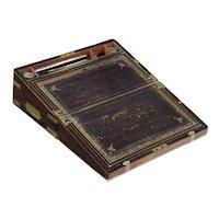 English Regency Period Rosewood Writing Slope Lap Desk circa 1815