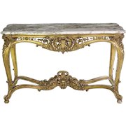 19th Century French Louis XV Giltwood Antique Center Table