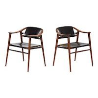 "Mid Century Modern Pair of Rolf Rastad & Adolf Relling ""Bambi"" Armchairs"