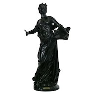 """La Science"" Antique French Bronze Sculpture by Edouard Drouot"