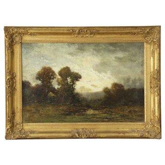 Edward Loyal Field (American, 1856-1914) Antique Tonalist Landscape Painting