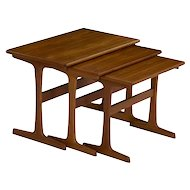 Vintage Danish Modern Teak Nesting Tables - Set of Three circa 1960s