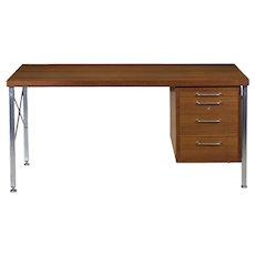 Mid Century Executive Desk by Hans Wegner for Johannes Hansen
