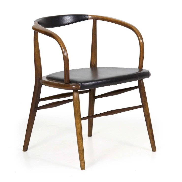 vintage mid century modern bentwood arm chair by boling chair co