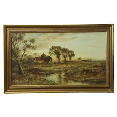 Daniel Sherrin (British, 1868-1940) Antique Countryside Landscape Painting