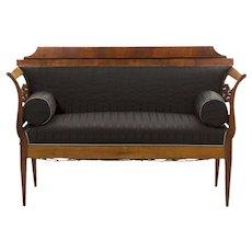 19th Century Biedermeier Antique Sofa Settee