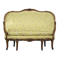French Antique Settee Louis XV Style Canapé, 19th Century