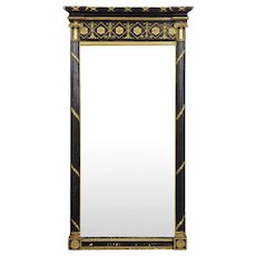 A Fine Regency Period Ebonized Pier Mirror circa 1815