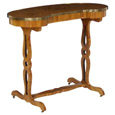 19th Century Antique French Writing Table with Kidney Form