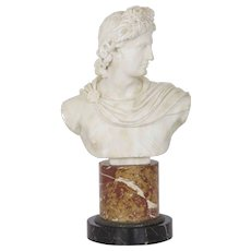 19th Century Antique Italian Marble Bust of Apollo Belvedere