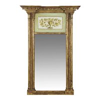 19th Century American Federal Giltwood Antique Pier Wall Mirror, New England
