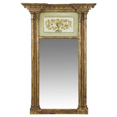 Very Fine American Federal Giltwood Pier Mirror, New England circa 1810