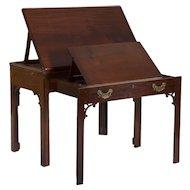 Georgian Style Mahogany Architect's Desk Drafting Table