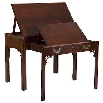 Georgian Style Mahogany Architect's Desk Drafting Table