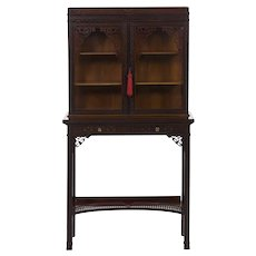 19th Century Chippendale Style Curio Cabinet by James Lamb
