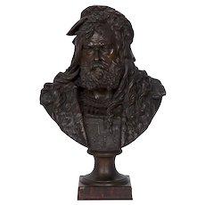 Bust of Albrecht Durer French Bronze Sculpture by Albert Carrier-Belleuse