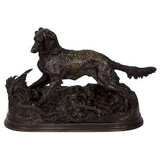 Authentic Pierre Jules Mene Bronze Sculpture of Irish Setter circa 1860