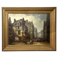 Scottish Antique Oil Painting of John Knox House c. 1840-60