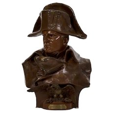 Bust of Napoleon Bronze Sculpture after Renzo Colombo