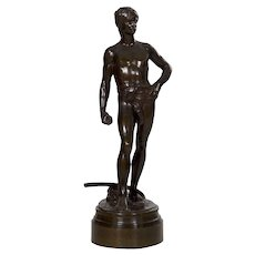 Fine French Bronze Sculpture of David after Antonin Mercie