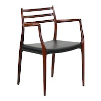 Vintage Model No. 62 Rosewood Arm Chair by Niels Møller, Denmark circa 1962