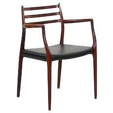Vintage Model No. 62 Rosewood Arm Chair by Niels Møller, Denmark circa 1962