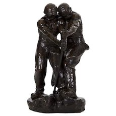 Art Deco Bronze Sculpture of Labor by Henri Levasseur (French, 1853-1934)