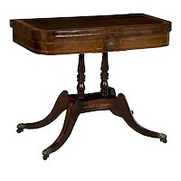 English Regency Rosewood Games Table circa 1815