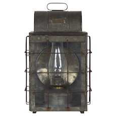 National Marine Lamp Co. Bulkhead Lantern, Early 20th Century