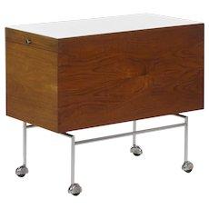 Poul Nørrelklit Danish Mid Century Modern Teak Serving Table Bar Cart