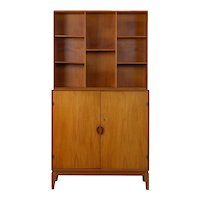 Peter Hvidt & Orla Mørlgaard for John Stuart Mid Century Modern Bookcase Cabinet