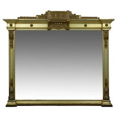19th Century Aesthetic Movement Mantel Pier Mirror in Silvered Gilding