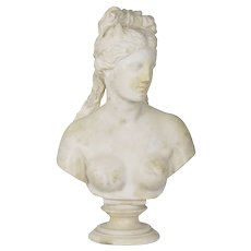 Italian 19th Century Grand Tour Marble Bust of Capitoline Venus after the Antique