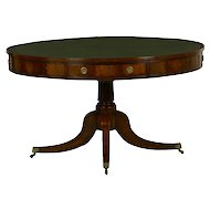 19th Century English Regency Mahogany and Leather Rent Table