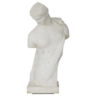 """Antique Italian Classical Marble Sculpture """"Psyche of Capua"""", Naples c. 1866"""