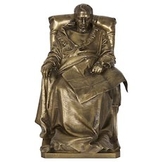"Authentic Bronze Sculpture ""Last Days of Napoleon"" by Vincenzo Vela"