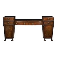 English Regency Antique Mahogany Sideboard Server w/ Lion Heads circa 1810