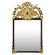 Fine Vintage Carved Giltwood Pier Wall Mirror, 20th Century