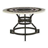 Italian Neoclassical Antique Pietra Dura Center Table w/ Bronze Base
