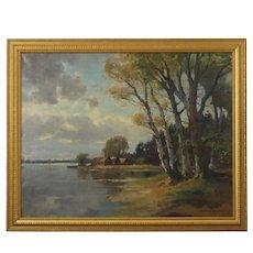 A Bavarian Landscape Painting by Fritz Müller Schwaben (German, 1879-1956)