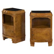 Pair of 1930's French Art Deco Bedside Tables Vintage Nightstands