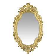French Louis XV Style Carved Pier Wall Mirror, Antique, 19th Century