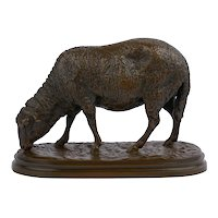 """Mouton Broutant"" Bronze Sculpture by Rosa Bonheur (French, 1822-99)"