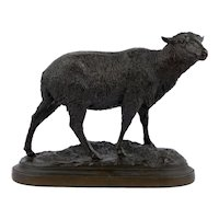 """Merino Ewe"" Bronze Sculpture Cast after Model by Isidore Jules Bonheur"