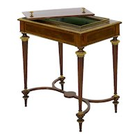 Antique French Marquetry Wine Serving Accent Table by Paul Sormani & Fils